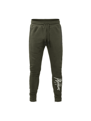 Malelions Trackpants Signature - Army/Offwhite