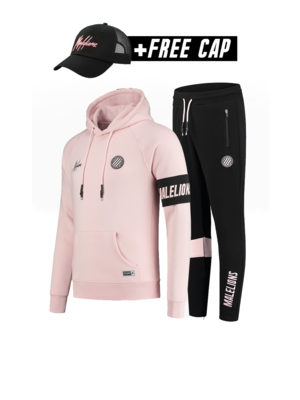 Malelions Sport Sport Captain Tracksuit - Black/Pink (+FREE CAP)
