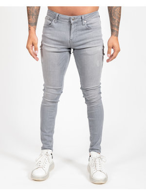 Malelions Basic Super Stretch Jeans - Light Grey