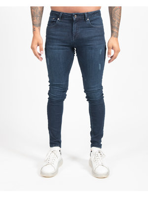 Malelions Basic Super Stretch Jeans - Dark Blue