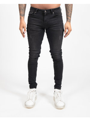 Malelions Basic Super Stretch Jeans - Black/Dark Grey