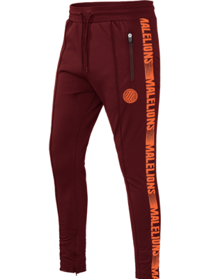 Malelions Sport Sport Trackpants Warming Up - Bordeaux/Koraal