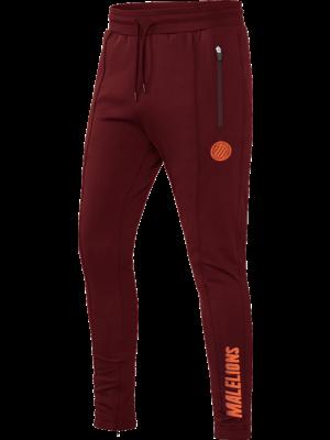 Malelions Sport Sport Quarterzip Trackpants - Bordeaux/Koraal