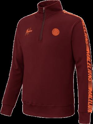 Malelions Sport Sport Quarterzip - Bordeaux/Koraal