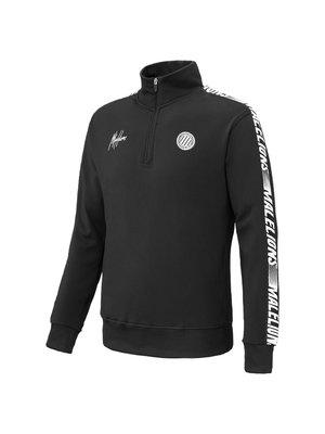 Malelions Sport Sport Quarterzip - Black/White