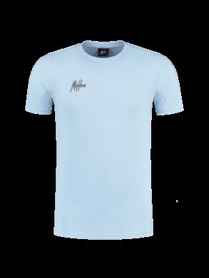 Malelions Small Signature T-shirt - Light Blue