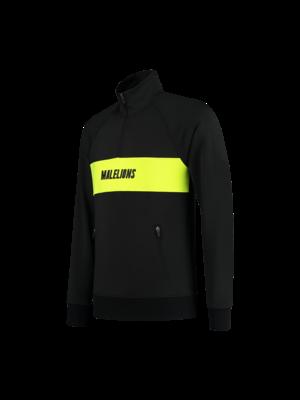 Malelions Sport Sport Uraenium Quarterzip - Black/Neon Yellow