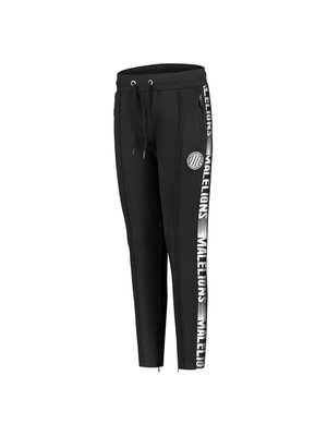 Malelions Junior Junior Sport Warming Up Trackpants - Black/White