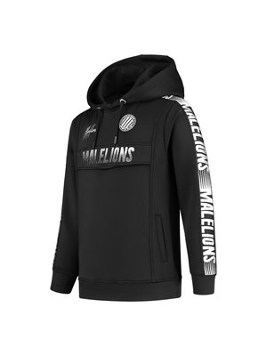 Malelions Junior Junior Sport Warming Up Hoodie - Black/White
