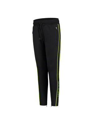 Malelions Junior Junior Sport Uraenium Trackpants - Black/Neon Yellow