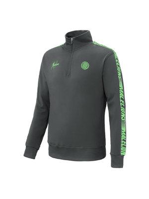 Malelions Sport Sport Quarterzip - Antra/Neon Green