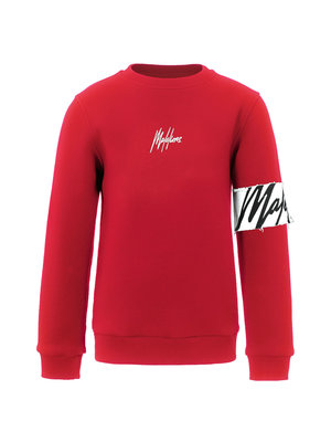 Malelions Junior Junior Captain Crewneck - Red/White
