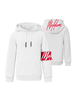 Malelions Junior Junior Captain Hoodie - White/Red