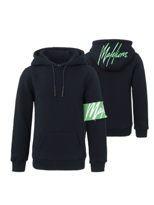 Malelions Junior Junior Captain Hoodie - Navy/Mint