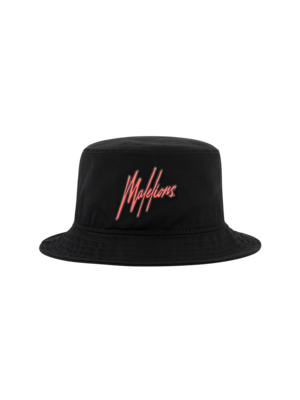 Malelions Bucket Hat- Black/Neon Red