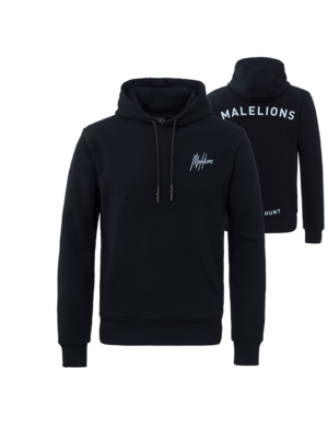 Malelions Firat Hoodie - Navy/Light Blue