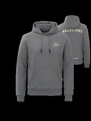 Malelions Firat Hoodie - Matt Grey/Yellow
