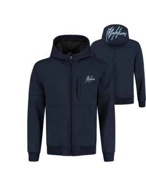 Malelions Softshell - Navy/Light Blue