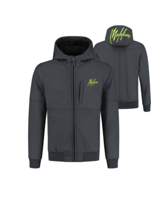 Malelions Softshell - Matt Grey/Yellow