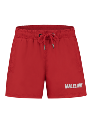 Malelions Junior Junior Nium Swimshort - Red/White