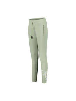Malelions Women Women Signature Trackpants - Sage Green/White