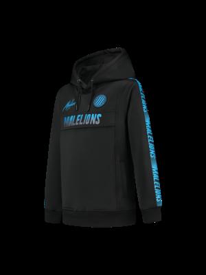 Malelions Junior Junior Warming Up Hoodie - Black/Blue