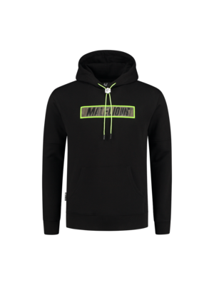Malelions Perception Hoodie - Black/Neon Yellow