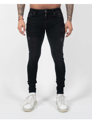 Malelions Ari Jeans - Black/Neon Red