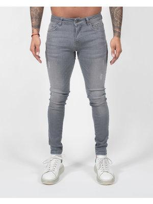 Malelions Ari Jeans - Matt Grey/ Neon Yellow
