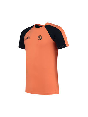 Malelions Sport Sport Striker T-Shirt - Navy/Salmon