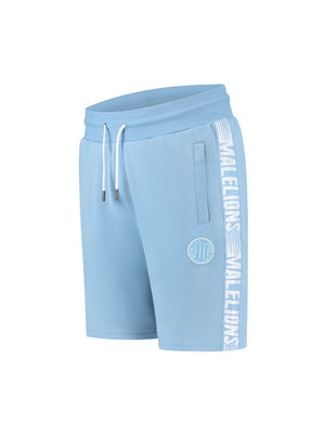 Malelions Sport Sport Striker Short - Light Blue/White