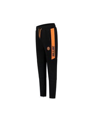 Malelions Sport Sport Coach Trackpants - Black/Neon Orange