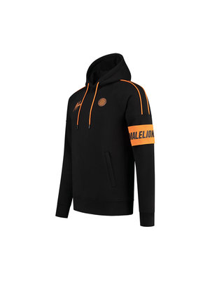 Malelions Sport Sport Coach Hoodie - Black/Neon Orange