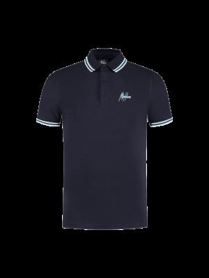 Malelions Din Polo - Navy/Light Blue