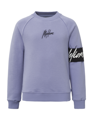Malelions Junior Junior Captain Crewneck - Purple/Black
