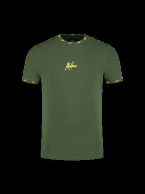 Malelions Junior Junior Gini T-shirt- Army/Yellow