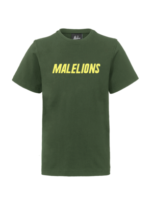Malelions Junior Junior Nium T-Shirt - Army/Yellow