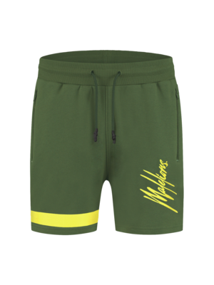 Malelions Junior Junior Pablo Trackshort - Army/Yellow