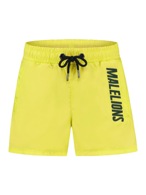 Malelions Junior Junior Nium Swimshort - Yellow/Army