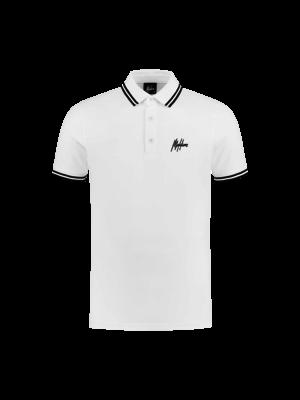 Malelions Junior Junior Striped Polo - White/Black