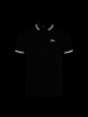 Malelions Junior Junior Striped Polo - Black/White
