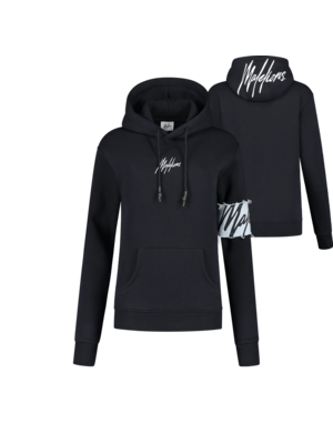 Malelions Women Women Captain Hoodie - Navy/Light Blue