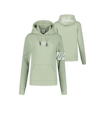 Malelions Women Women Captain Hoodie - Sage Green/White