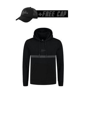 Malelions Tonny Hoodie - Black/Black (+FREE CAP)