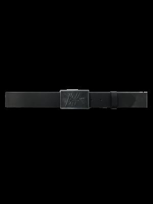 Malelions Leather Belt - Black