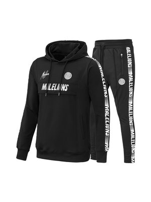 Malelions Sport Sport Tracksuit Warming Up - Black/White