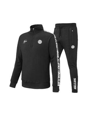 Malelions Sport Sport Quarterzip Tracksuit - Black/White