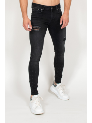 Malelions Jeans Small Damaged - Black