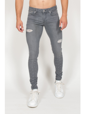 Malelions Jeans Small Damaged - Grey