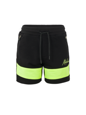 Malelions Junior Junior Uraenium Short - Black/Neon Yellow